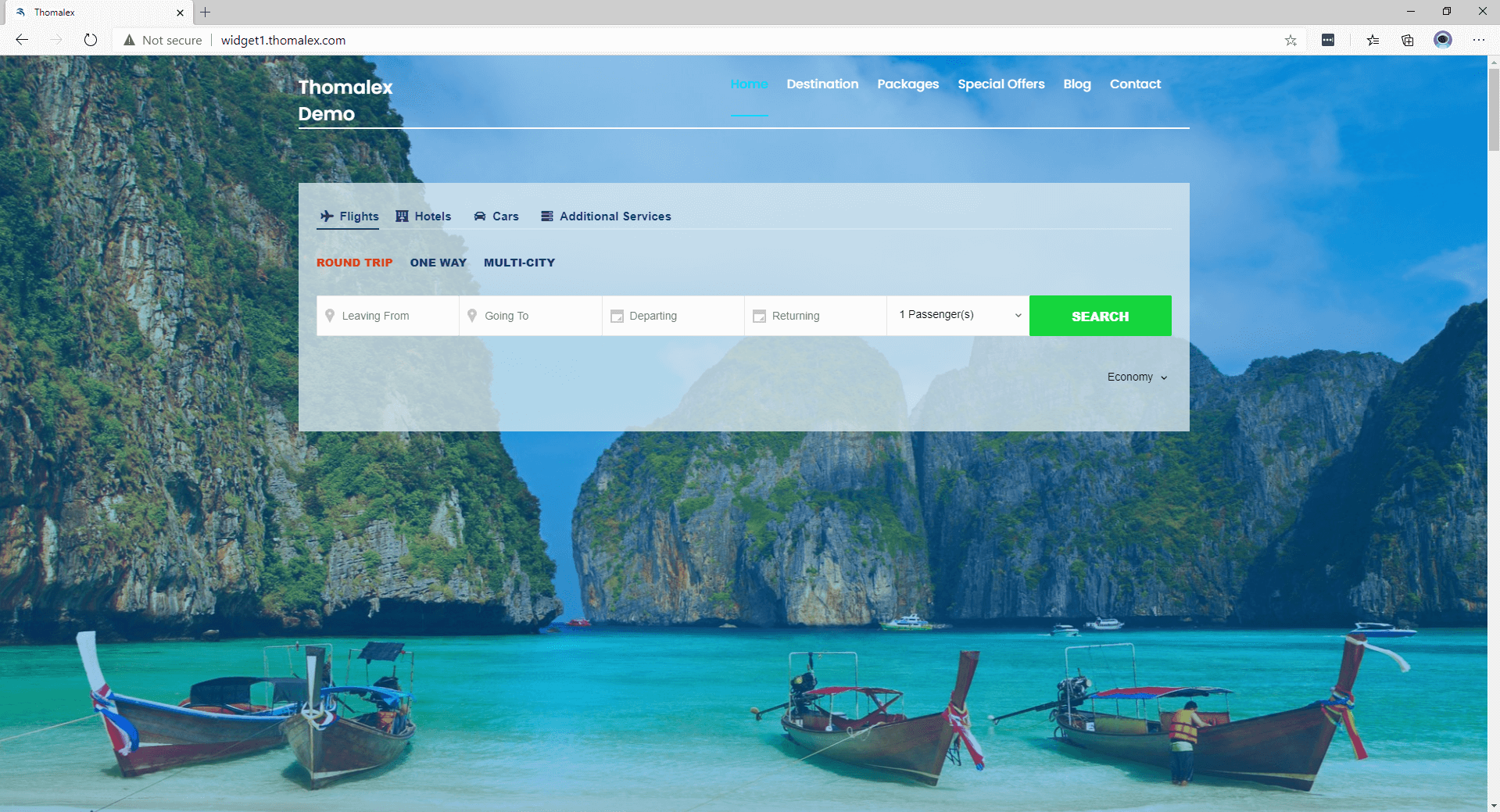 booking tool search form